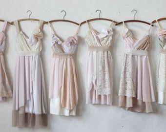 Custom Blush Pink Bridesmaids Dresses by ArmoursansAnguish on Etsy