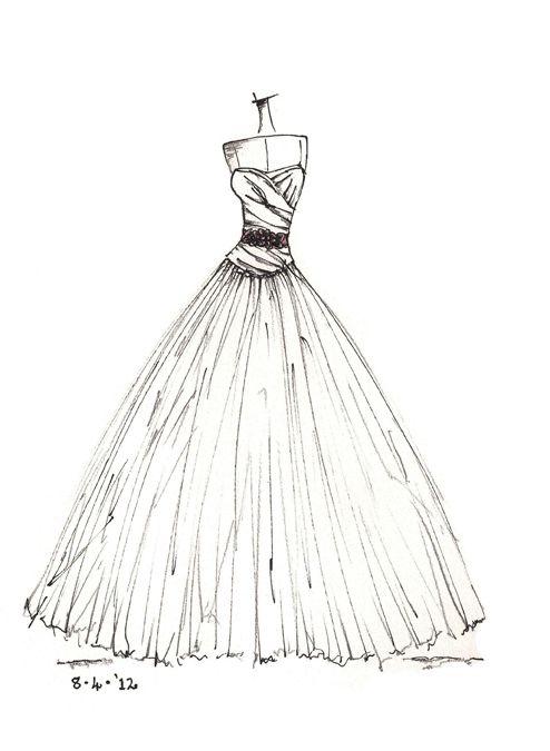 wwwetsyshopdresssketch wedding dress sketches Pinterest Discover more ideas about
