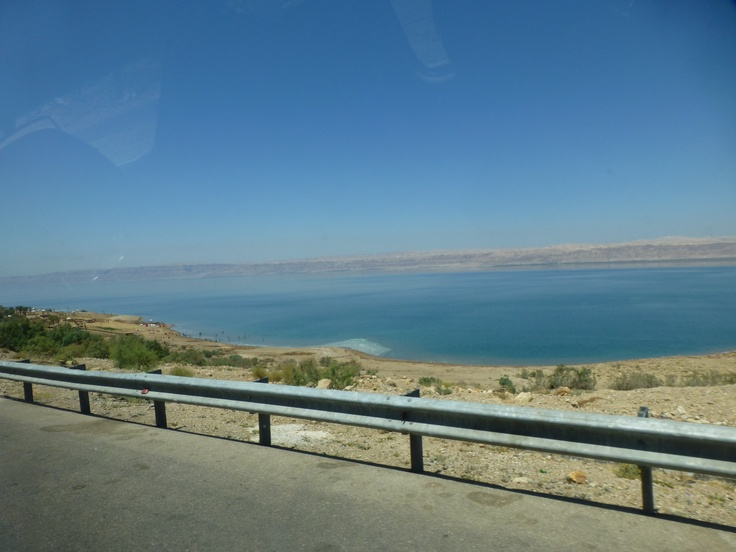 On the road to the Jordanian side of the Dead Sea. June, 2013.