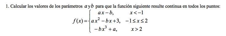 Ejercicio 1B 2002-2003 Junio. Propuesto en examen pau de Canarias. Matemática. Continuidad, derivabilidad y representación de funciones. Límites.