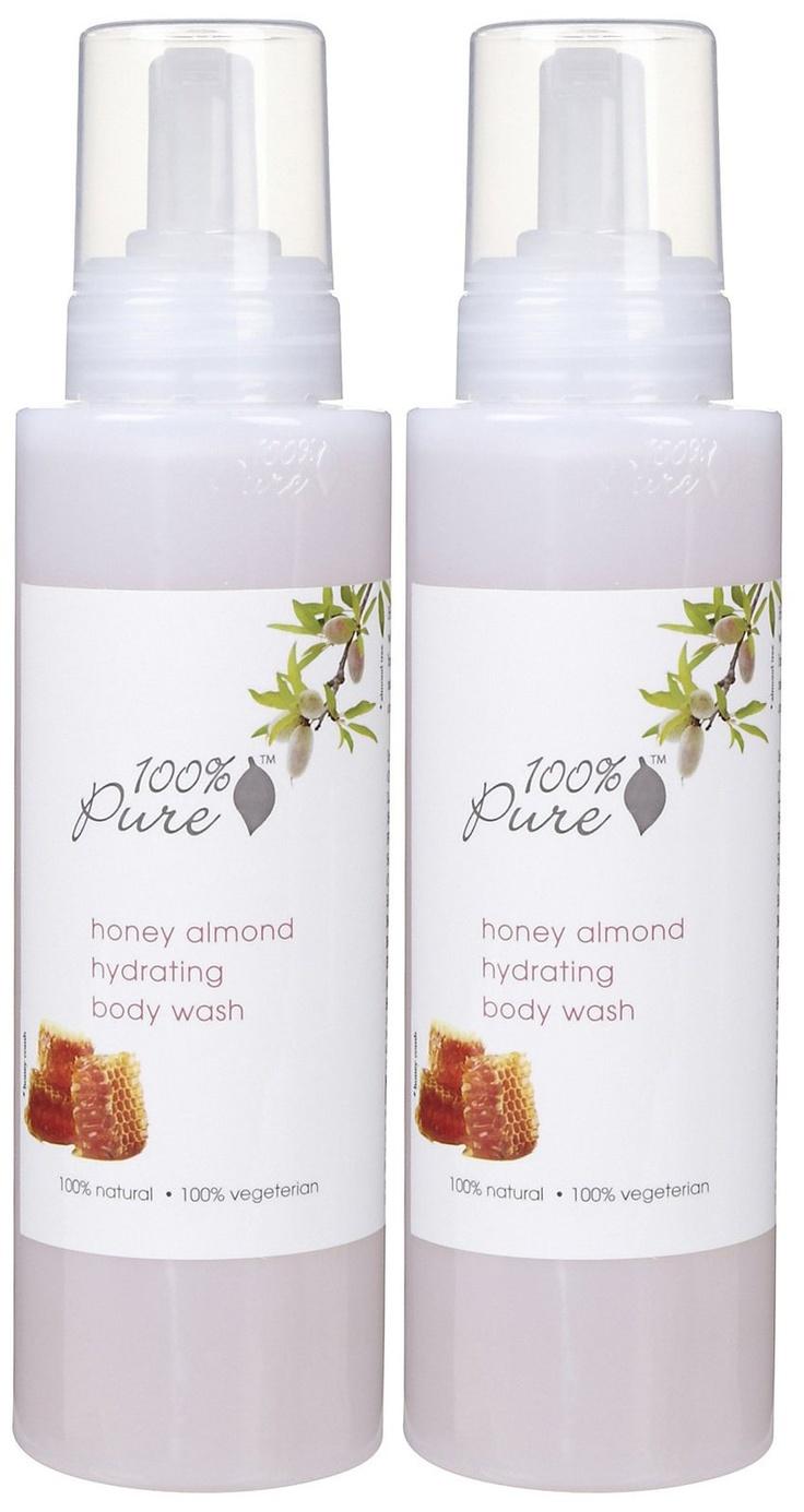 100 Percent Pure Organic Foaming Body Wash, Almond Milk
