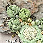 Купить или заказать Брошь 'Увядающие розы' в интернет-магазине на Ярмарке Мастеров. Брошь 'Увядающие розы' материалы: хлопок, бархатная тесьма, лента, агат, жемчуг Майорка, фурнитура цвета античной бронзы.