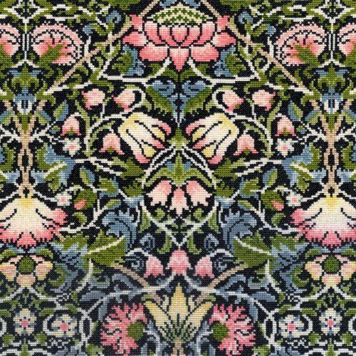 Bell Flower (William Morris) Cross Stitch