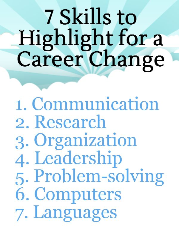 are looking at changing your career 7 transferable skills for career changers