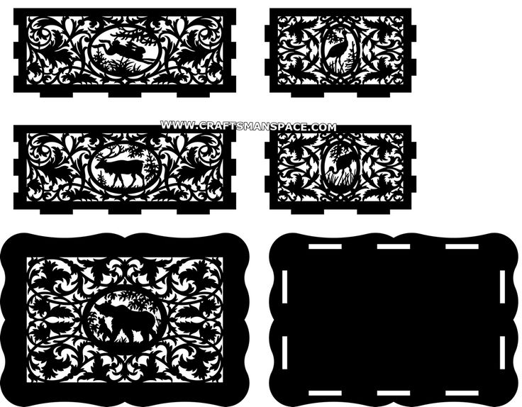 Scroll saw box plan - Parts cutting templates (Preview) | Woodworking | Scroll saw patterns ...
