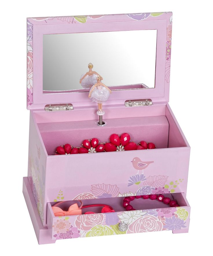 Pink Piper Girl's Musical Ballerina Jewelry Box