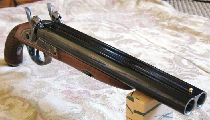 Double barrel, exposed hammer shotgun pistol - Rgrips.com Find our speedloader now! http://www.amazon.com/shops/raeind