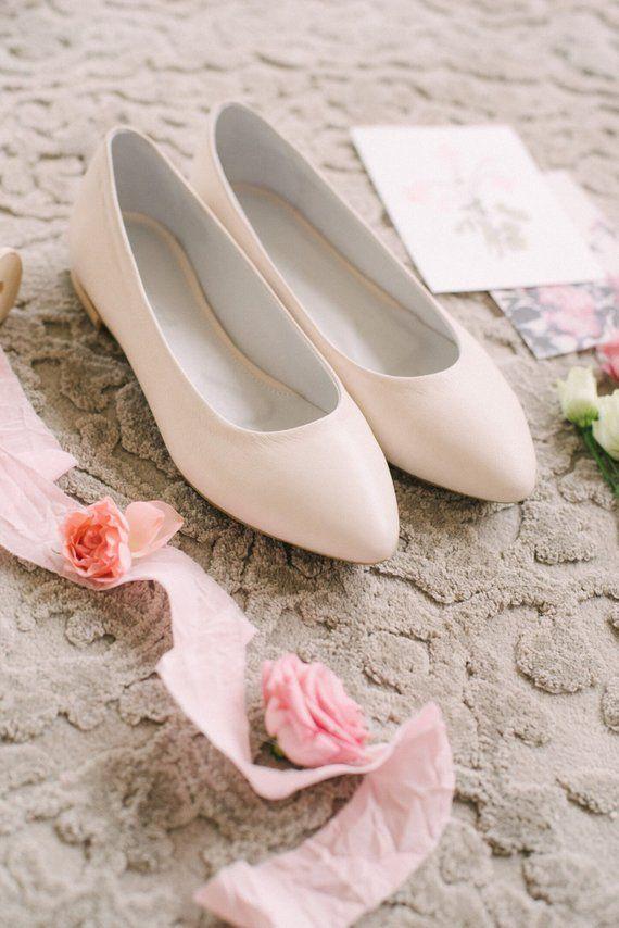 White Wedding Shoes Wedding Shoes Bridal Ballet Flats Low