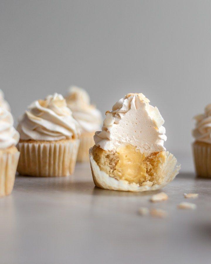 Vegan Coconut Cream Cupcakes Crumbs Caramel Recipe Coconut Cream Cupcakes Dessert Recipes Vegan Dessert Recipes