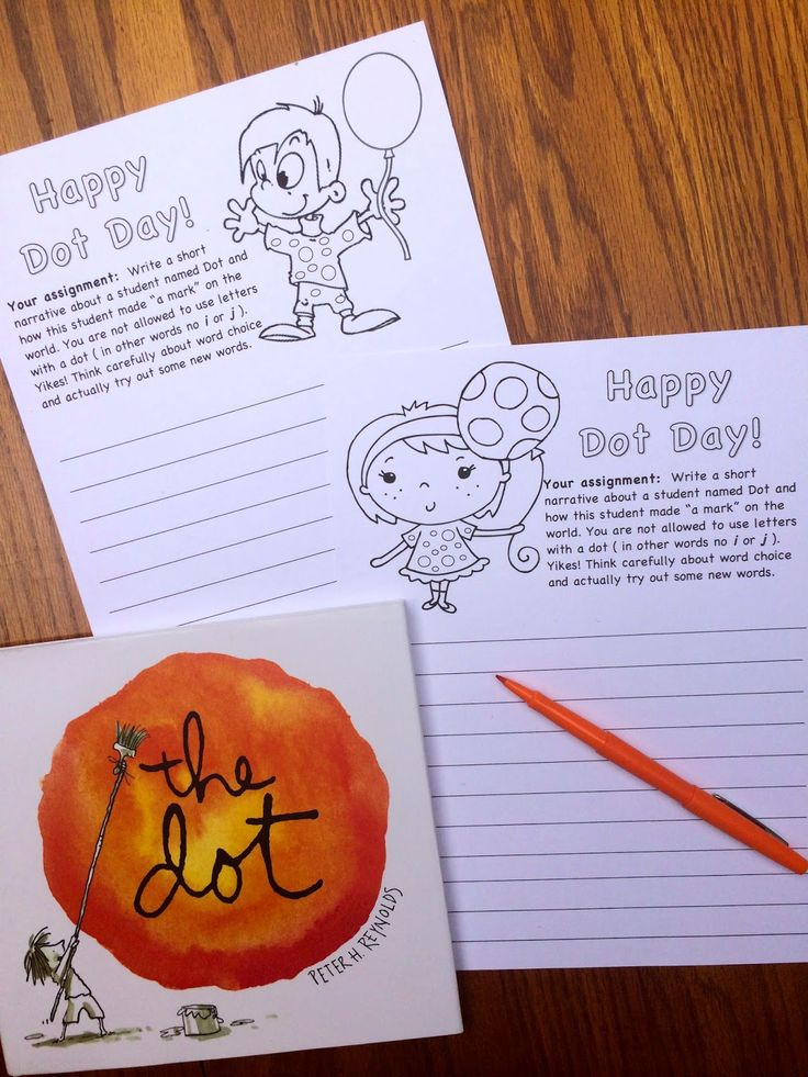 """International Dot Day - Sept. 15 ish.  Creative Writing with """"The Dot"""" by Peter Reynolds"""
