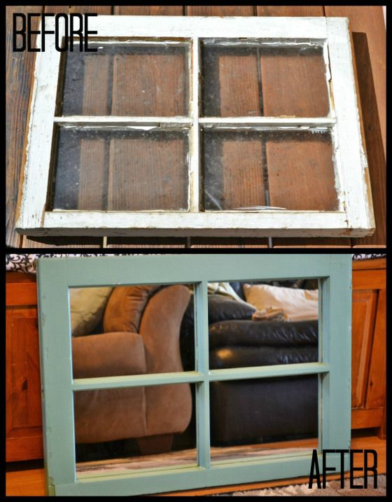 diy window pane mirror - would love to do this for a pic collage