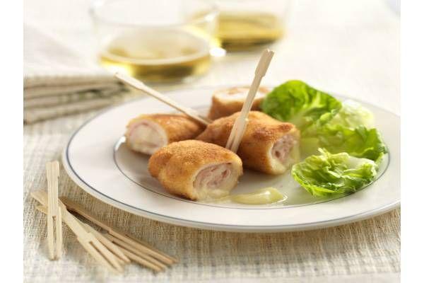 Receta de Rollitos de pollo con jamón y queso (29169) - Gallina Blanca