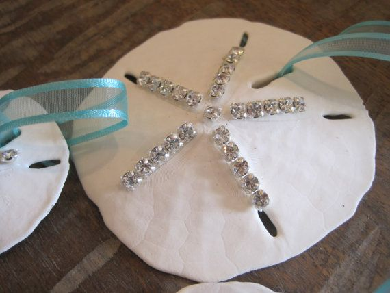 Beach Decor Swarovski Sand dollar Ornament by LiveCoastal on Etsy