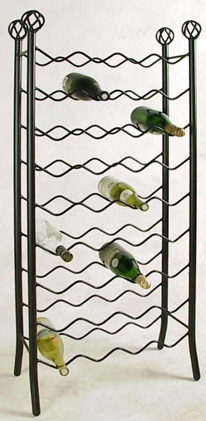 36 Bottle Wrought Iron Wine Rack