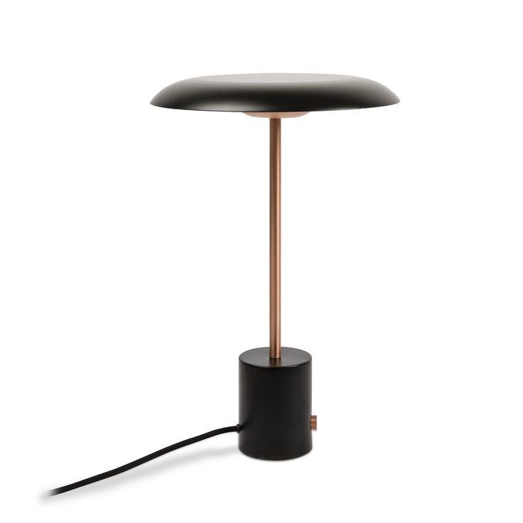 Lámpara de mesa estilo retro metálica negra #decoracion #iluminacion #interiorismo #diseño #lamparas #lamparasmesa #lamparasbonitas