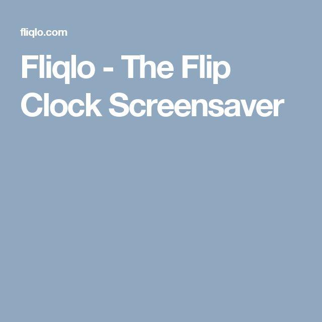 Fliqlo - The Flip Clock Screensaver