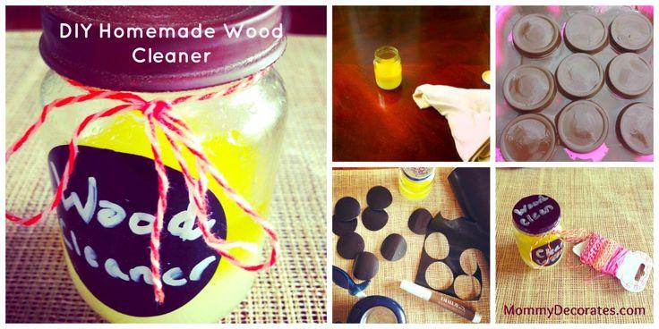 Only 3 Ingredients! Decorate Baby Food Jar DIY Homemade Wood Cleaner / Homemade Wood Cleaner Recipe Using Lemons