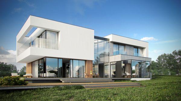 Modern single-family house by Krzysztof Kowal, via Behance
