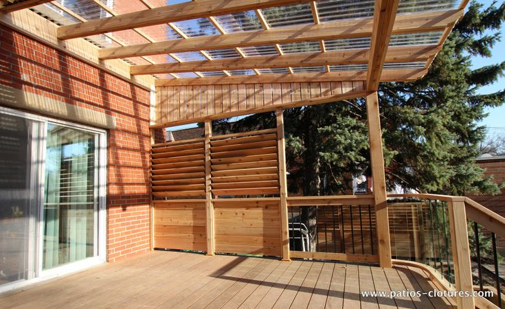 Image de terrasse fait de polycarbonate recherche google for Construire deck piscine