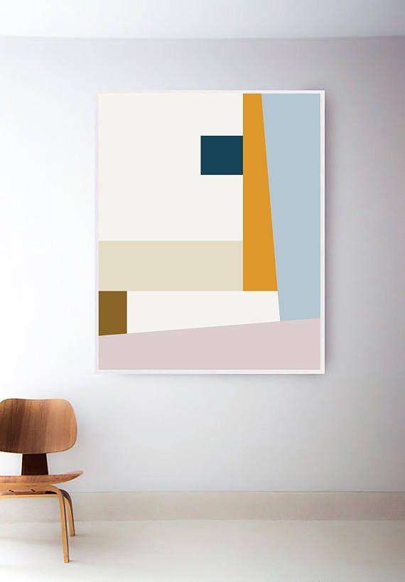Mitte Jahrhundert Kunstdruck. Abstrakter geometrischer Druck. Geometrische Mid Century Modern Art Prints. Mitte des Jahrhunderts Mitte Jahrhundert Drucke. Formen drucken