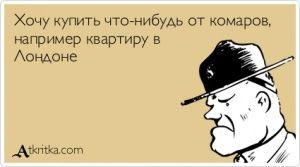 Аткрытка №412075: Хочу купить что-нибудь от комаров, например квартиру в  Лондоне - atkritka.com