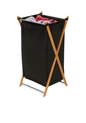 Household Essentials Bamboo Bamboo X-Frame Laundry Hamper - Online Only