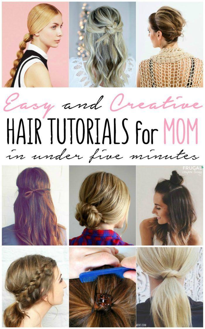 Easy Mom Hair Styles Mom Hairstyles Easy Hairstyles Easy Mom Hairstyles