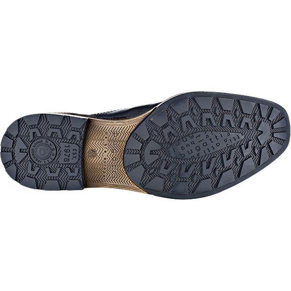 Die bugatti Freizeit Schuhe bestehen aus echtem Nappaleder, das zum Teil fein strukturiert ist. Die gepolsterte Decksohle sorgt für ein komfortables Tragegefühl.<br /> <br /> - Verschluss: Schnürverschluss <br /> - praktische Anziehlasche<br /> - Schaftrand im Fersenbereich gepolstert<br /> - verstärkter Zehen- und Fersenbereich<br /> - Profil-Laufsohle mit Stoßdämpfung im Absatz<br /> <br /> Obermaterial:...