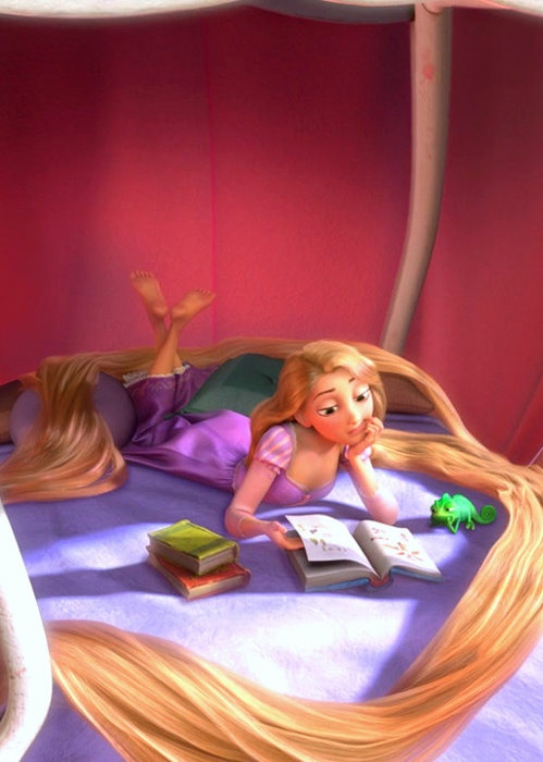 Iphone C Wallpaper Rapunzel And Pascal Reading Haven T Decided A Title Yet