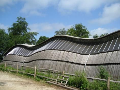 The Gridshell sits in a rural context. Photo by CABE, Weald and Downland Gridshell | Case studies | CABE