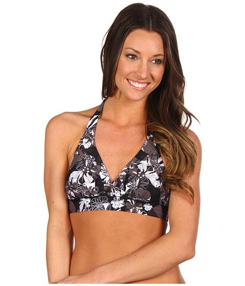 Lole Oahu Halter Bikini Top Black Peony - Zappos.com Free Shipping BOTH Ways