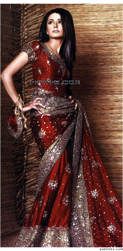 Indian #Bridal Sari - wish it was a darker red color! :/