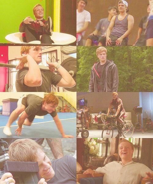 Josh on the set.: Hunger Games Sets, Hunger Games Catch, Josh Hutcherson, Joshhutcherson, Joshua Ryan, Games Trilogy, Bears Crawl, The Hunger Game, Games Cast