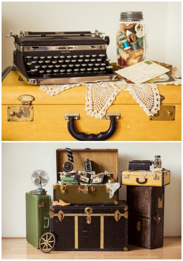 Display a Vintage Hope Chest -  Women would store household linen and clothing in preparation for her marriage.