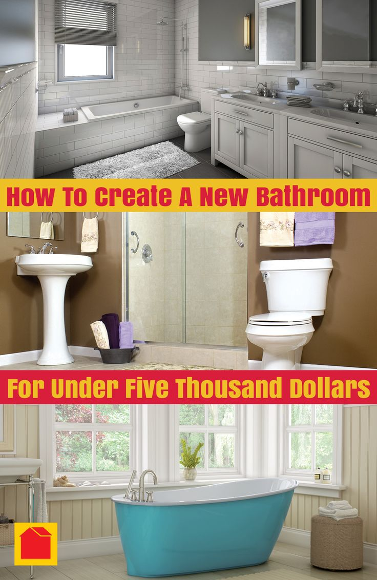 FREE EBook   How To Create A New Bathroom For Under $5000. Click The Link