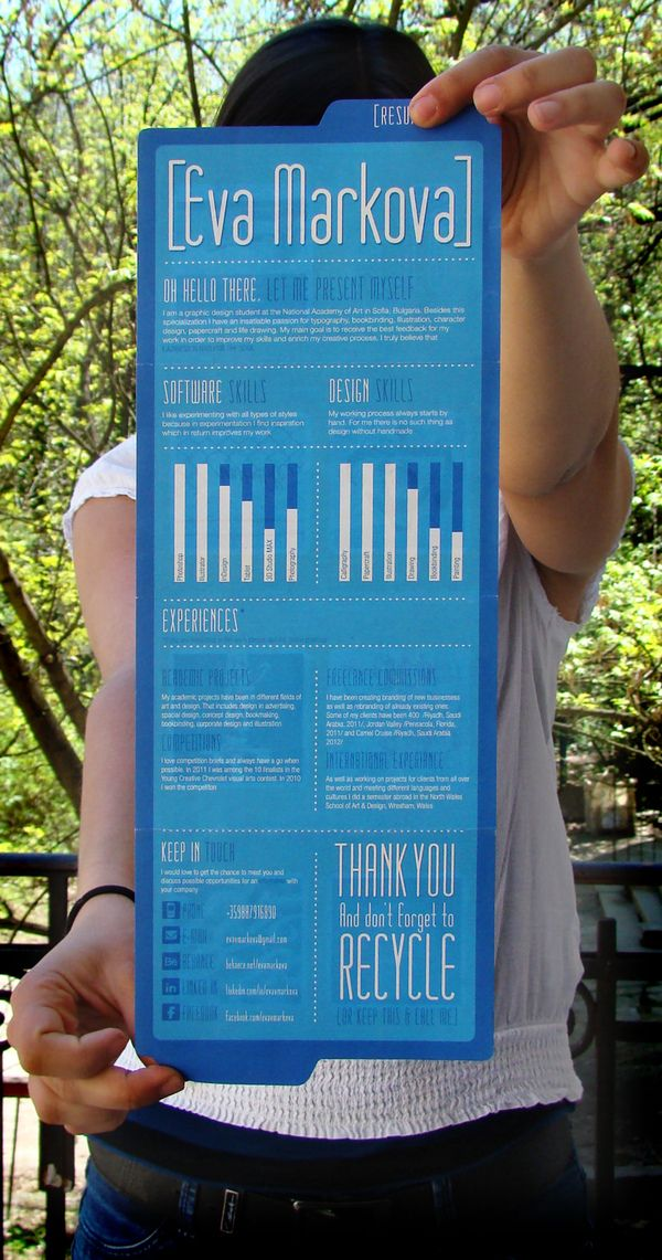 Visual resume that would be a good representation via the web. #infographic #resume #CV