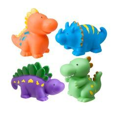 Baby Bath Toys Alex Squirters for the tub Dinos - Green Ant Toys http://www.greenanttoys.com.au/shop-online/dinosaur-toys/bath-squirts-dinos/