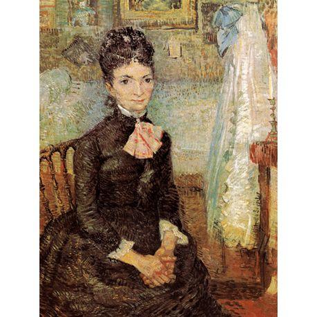 Reprodukcje obrazów Vincent van Gogh Woman sitting by a cradle - Fedkolor