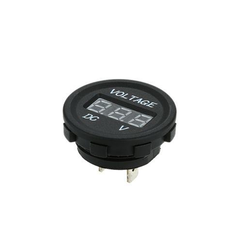 LED Display Car Digital Electric Voltage Digital Panel Meter Volt Voltmeter Monitor Socket for Car Truck Minibus Motorcycle for ATV Boat