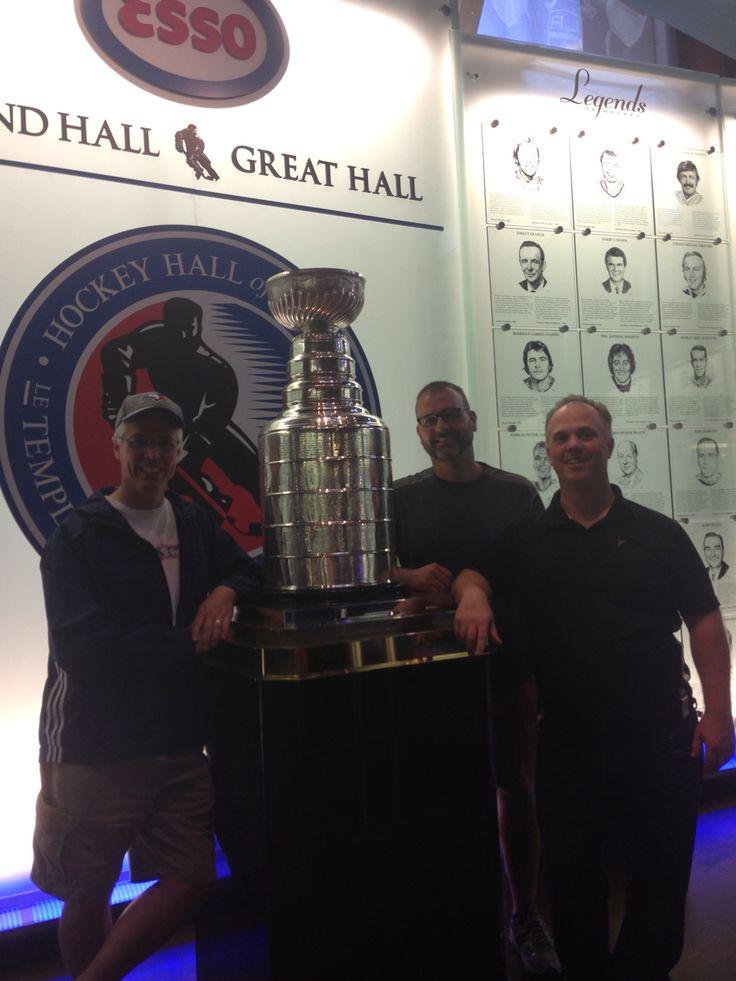 "Three friends enjoying the ""cup"""