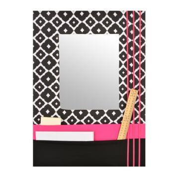 Pink Framed Mirror with Pockets, 17x24 | Kirklands