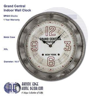 ERGO Grand Central Wall Clock