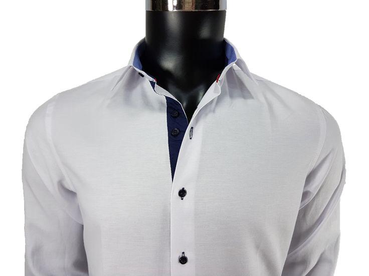 Koszula męska biały - - Koszule męskie - Awii, Odzież męska, Ubrania męskie, Dla mężczyzn, Sklep internetowy