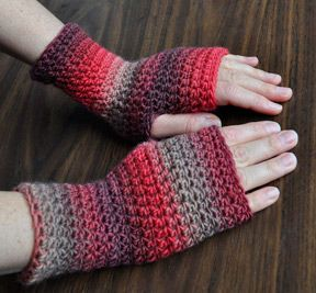 """Everyday Fingerless Gloves""  Free pattern from Crystal Palace Yarns"