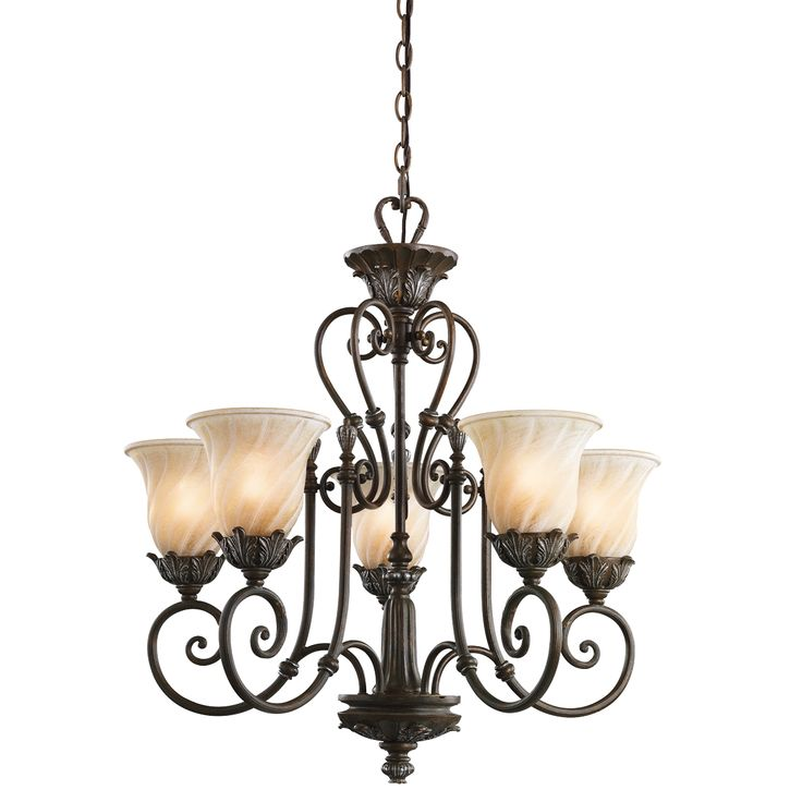 Sarabella Collection 5 light Chandelier in Legacy Bronze