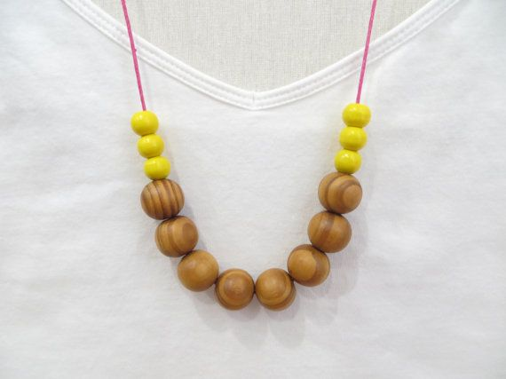 Hey, I found this really awesome Etsy listing at https://www.etsy.com/listing/183077205/wooden-bead-necklace