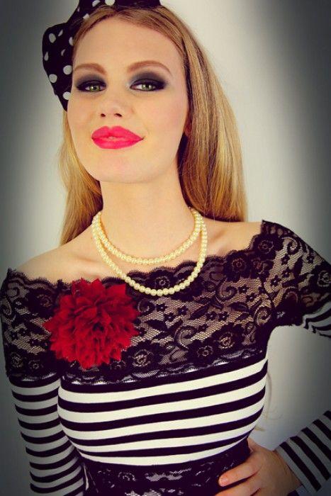 Pretty In Punk Stripe Top (Black) - Pretty In Punk - Collections