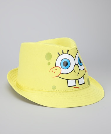 Take a look at this Yellow SpongeBob Fedora by Nickelodeon Friends Collection on @zulily today!