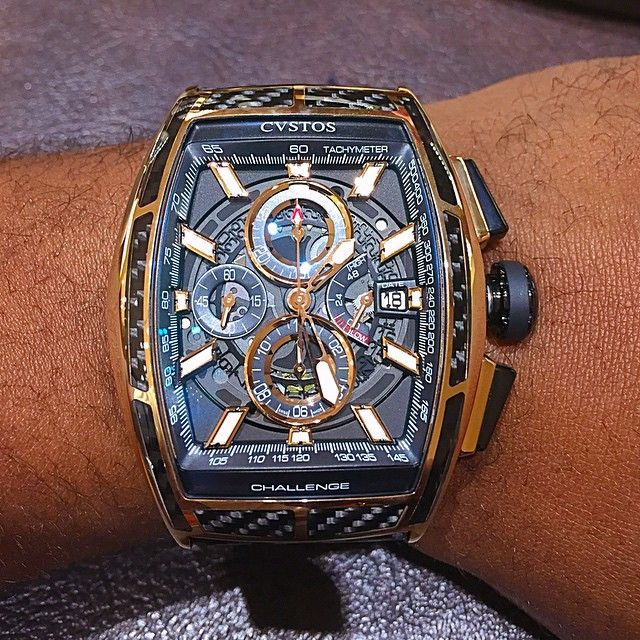 Cvstos Challenge Chrono- yellow gold & carbon fiber.