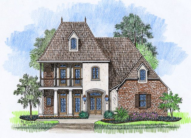 Acadian House Plan (2338)